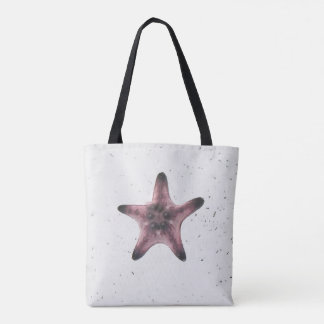 Starfish On White Sand Minimalism Pattern Tote Bag