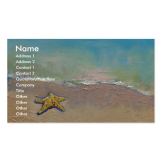 Starfish Pack Of Standard Business Cards