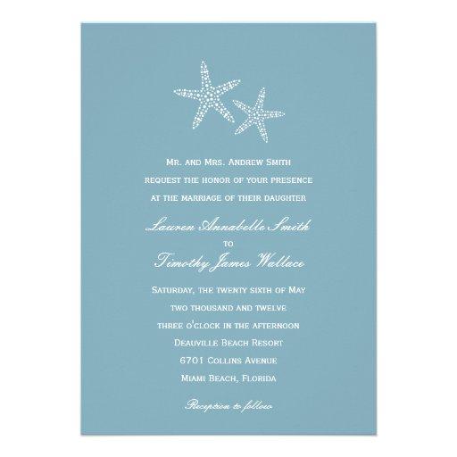 Starfish Pair Wedding Invitation Personalized Announcements