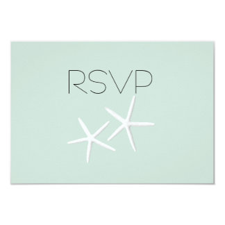 Starfish Passion Wedding Reply Meal SelectionCards 9 Cm X 13 Cm Invitation Card