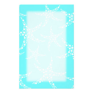 Starfish Pattern in Turquoise and White Stationery