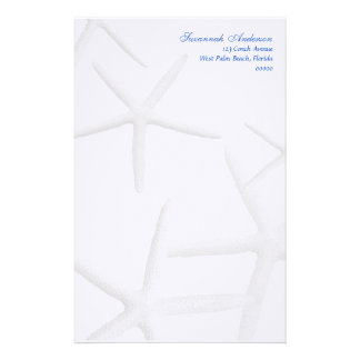 Starfish Personalized Beach Theme Writing Paper Customised Stationery