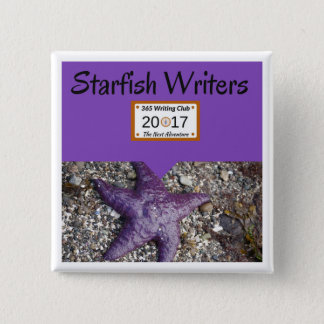 Starfish Pin! 15 Cm Square Badge