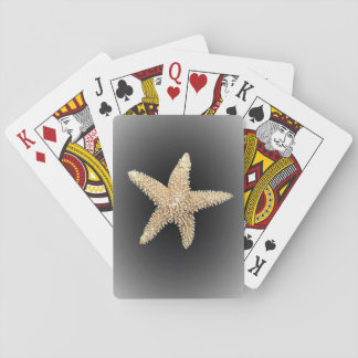 starfish playing cards black background