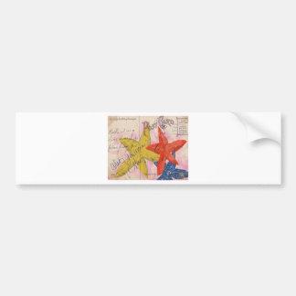 Starfish Postcard Bumper Sticker