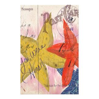Starfish Postcard Customised Stationery