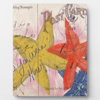 Starfish Postcard Plaque