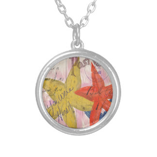 Starfish Postcard Silver Plated Necklace