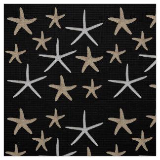 Starfish repeat pattern fabric