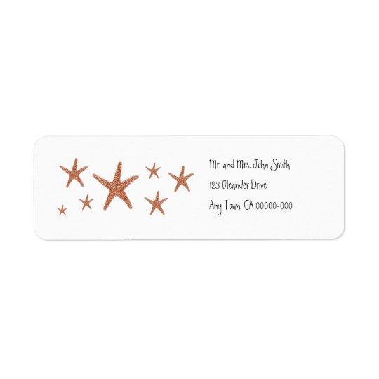Starfish Return Address Label