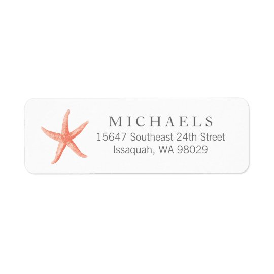 Starfish Return Address Labels