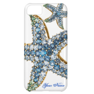 Starfish Rhinestones Costume Jewelry Iphone Case