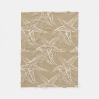 Starfish Sand Beach Fleece Blanket