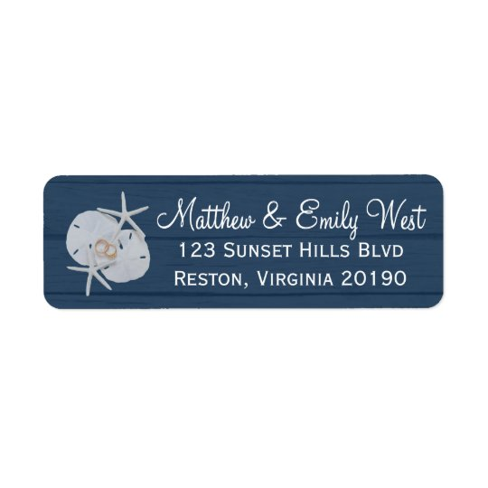 Starfish Sand Dollar Wedding Address Labels