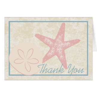 Starfish Seaside Thank You Card