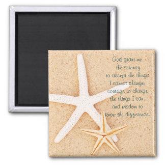 Starfish Serenity Prayer Magnet