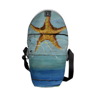 Starfish Sky Tropical Designer Mini Messenger Bag