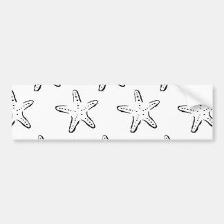 Starfish Stamp Bumper Sticker