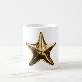 Starfish star fish gold coffee mug