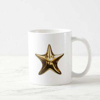 Starfish star fish gold mugs