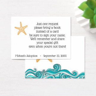 Starfish Story Adoption Party Book Request Business Card