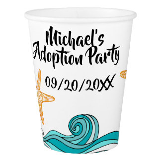 Starfish Story Adoption Party Supplies Paper Cup