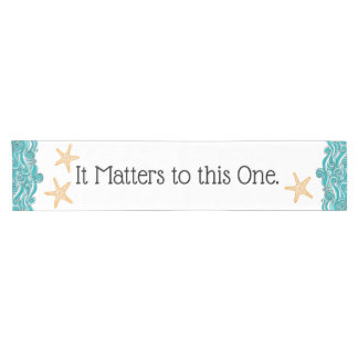 Starfish Story Adoption Party Supplies Short Table Runner