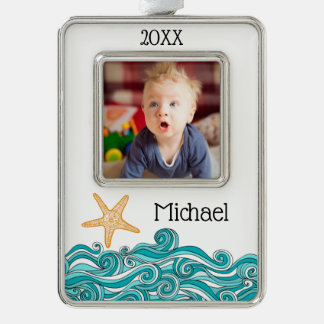 Starfish Story Adoption Personalized Gift Silver Plated Framed Ornament