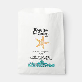Starfish Story Adoption Thank You Favor Bags