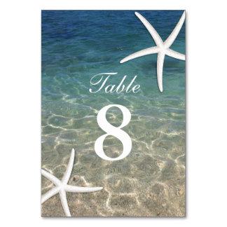 Starfish Summer Beach Wedding Table Numbers