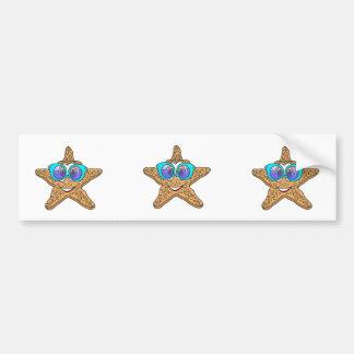 Starfish Sunglasses Cartoon Bumper Sticker