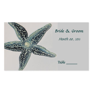 Starfish Table Place Card Business Card Templates