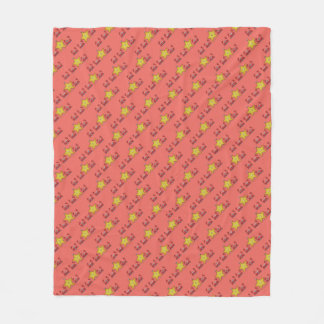 Starfish & The Crabs Beach Critters Pattern Fleece Blanket