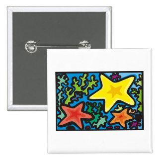 Starfish Trio 15 Cm Square Badge