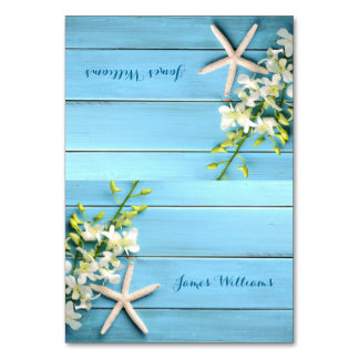 Starfish Wedding Place Cards Table Cards Orchid