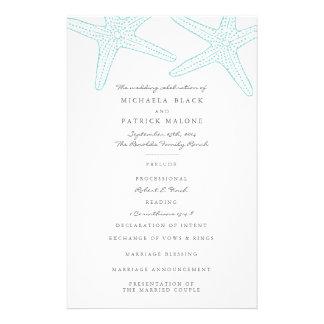Starfish Wedding Programs Flyer