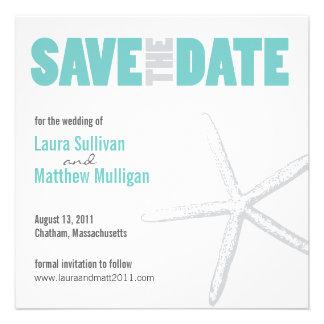 Starfish Wedding Save the Date Invitations