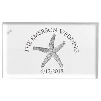 Starfish Wedding Table Number Card Holder