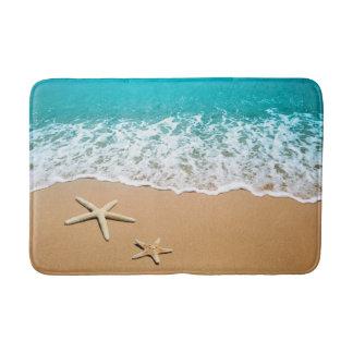 Starfish White Sand Beach Ocean Bath Mat