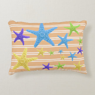 Starfish with Changeable Background Colour Decorative Cushion