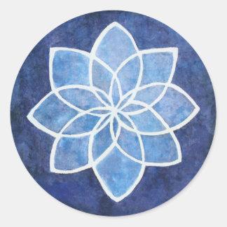Starflower Round Sticker