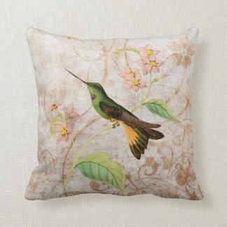 Starfrontlet Hummingbird Vintage Grunge Pillow