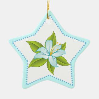 Stargazer light blue lily custom ornament