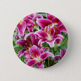 Stargazer Lilies 6 Cm Round Badge