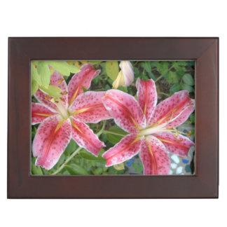 Stargazer Lilies Keepsake Box