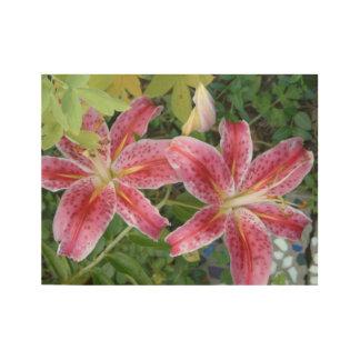 Stargazer Lilies Wood Poster