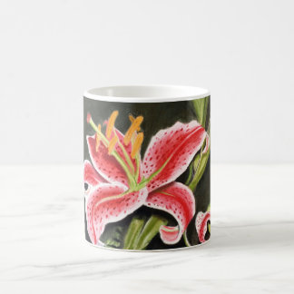 Stargazer Lilly coffee cup