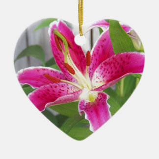 Stargazer Lily Ceramic Ornament