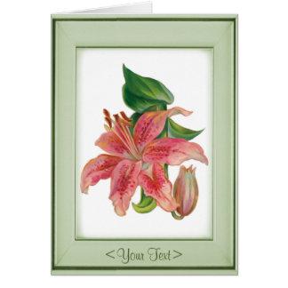 Stargazer Lily - Customize Card