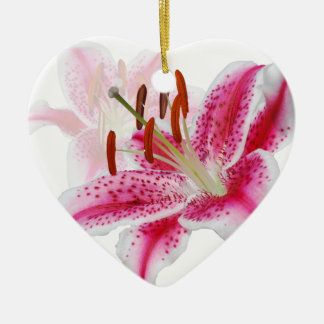 Stargazer Lily Holiday Ornament